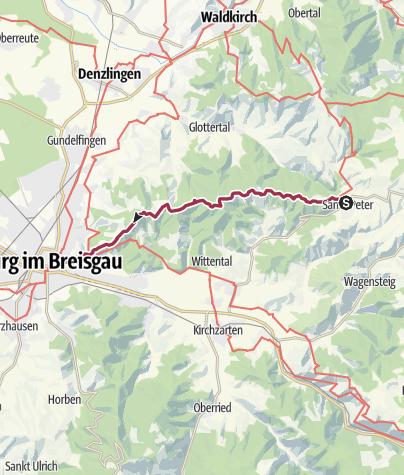 Karte / Auf dem Kandelhöhenweg von St. Peter nach Freiburg