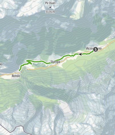 Karte / Vicosoprano - Promontogno