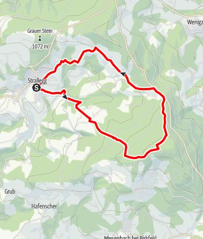 Karte / Strallegg - Wildwiese - Toter Mann - Strallegg