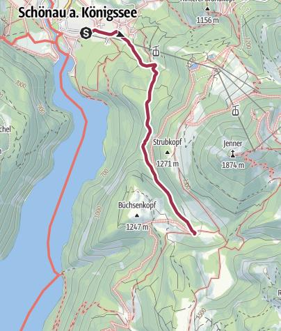 Karte / Über die Hochbahn zur Königsbachalm