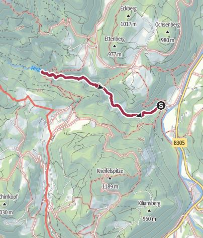 Karte / Wanderung durch die Almbachklamm