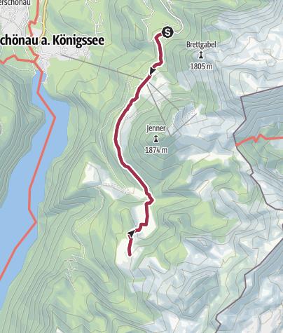 Karte / Königsweg am Jenner