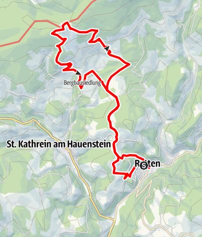 Karte / Montanlehrpfad - Ratten - St. Kathrein am Hauenstein