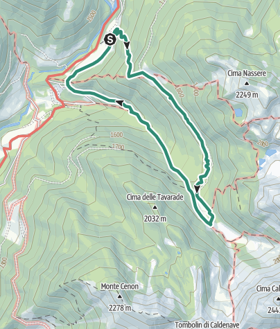 Map / Malghe and Zirmi path