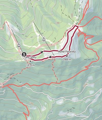 "Karte / Wanderung ""Panarotta 2002"""
