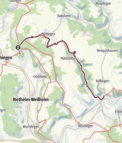 Karte / Donauberglandweg Etappe 2