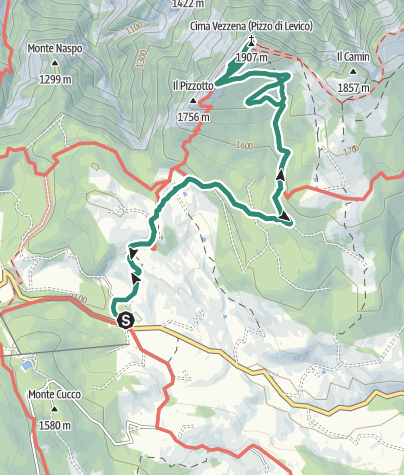 "Map / The Vezzena highlands and ""Pizzo di Levico"" Fort"