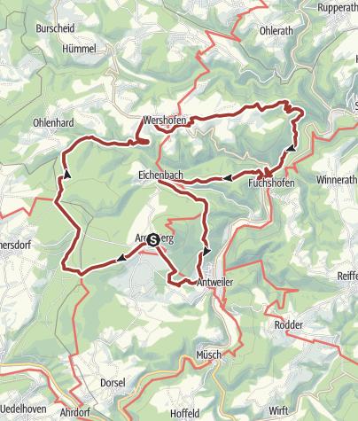 Karte /  Fürstin-Margaretha-Weg: Aremberg-Antweiler-Eichenbach-Wershofen-Aremberg