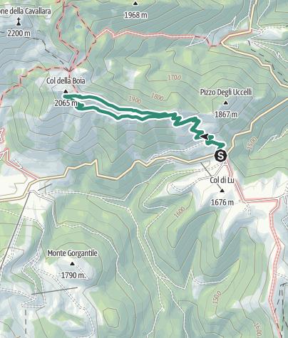 Cartina / Passeggiata Il Trodo dei Fiori