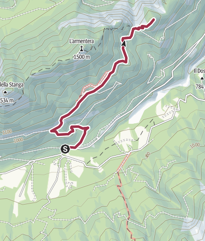 Karte / Wanderweg Eremo San Lorenzo