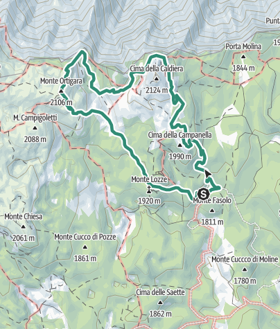 Cartina / Trekking Monte Ortigara e Cima Caldiera