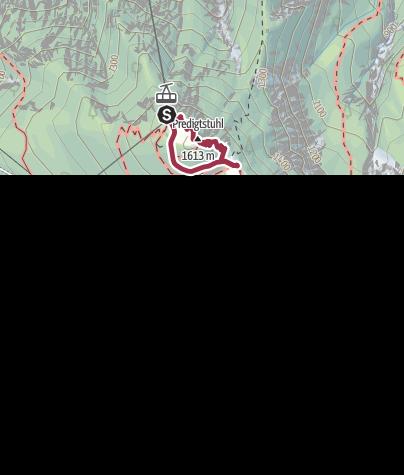 Karte / Rundweg auf dem Predigtstuhl