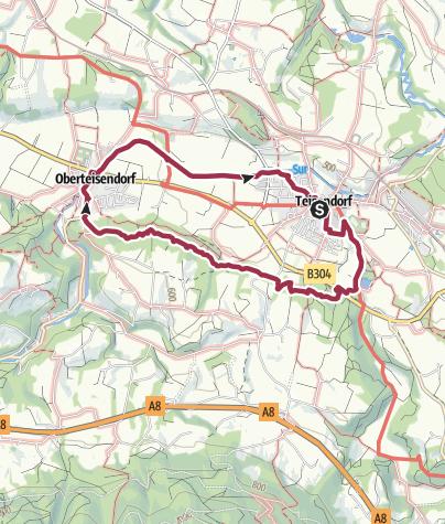 Karte / Skulpturenweg Teisendorf