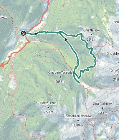Karte / Trekking zur Nasseresee durch den Weg der Nomaden