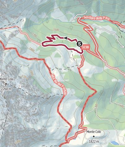Cartina / Passeggiata sentiero dei Larici