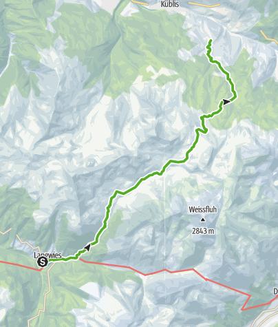 Karte / Vom Schanfigg ins Prättigau (Langwies - Conters)