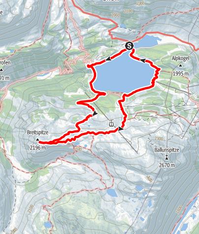 Karte / Breitspitze (2203 m)