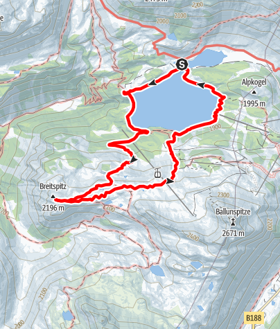 Map / Breitspitze (2203 m)