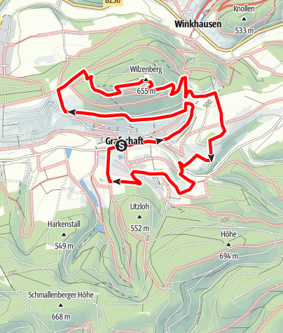 Karte / Golddorf-Route Grafschaft