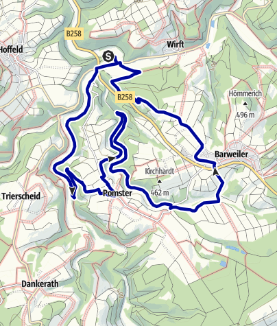 Karte / Dörferblick-Schleife im Naturschutzgroßprojekt Obere Ahr-Hocheifel