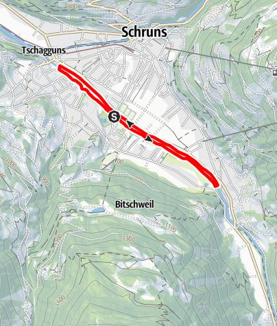 Map / Promenadenlauf der Ill entlang in Schruns-Tschagguns