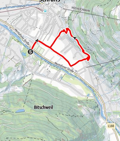 Map / Schrunser Feld Runde