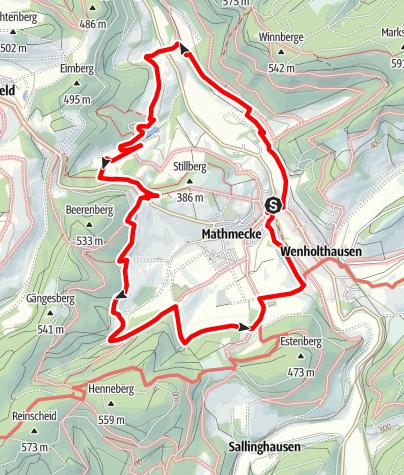 Karte / Golddorf-Route Wenholthausen