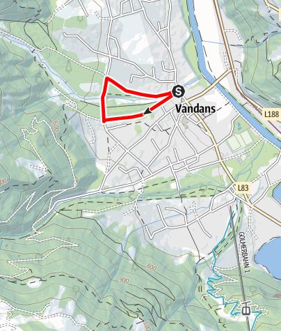 Karte / Fitnessparcours Vandans