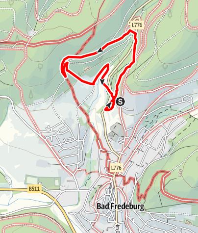 Karte / Bad Fredeburger Walderlebnispfad