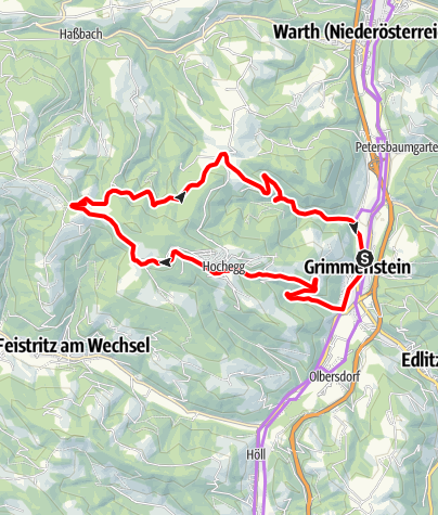 Térkép / Weitblickroute E-Bike