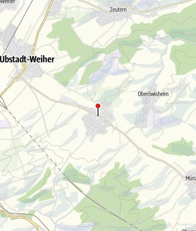 Karte / Gästehaus Härdle Kraichtal-Unteröwisheim