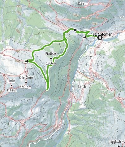 Karte / St. Antönien: Hochmoorwanderung