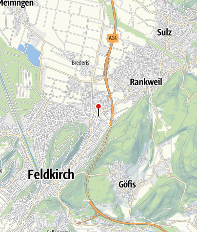 Kaart / Feldkirch -Altenstadt Dominikanerinnenkloster und Kirche Mariä Verkündigung