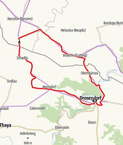 Mapa / Graslweg-Thayatal - Runde 1