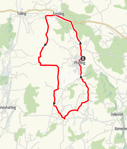 Karte / Rundweg 4 um Pfaffing