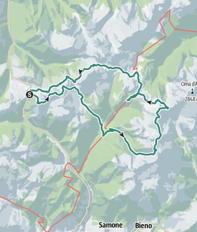 Cartina / Trekking - Lagorai Panorama