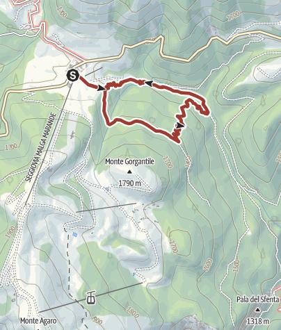 Karte / Footpath i mille volti del bosco