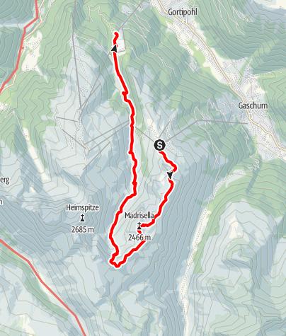 Map / Madrisellaspitze (2466 m)