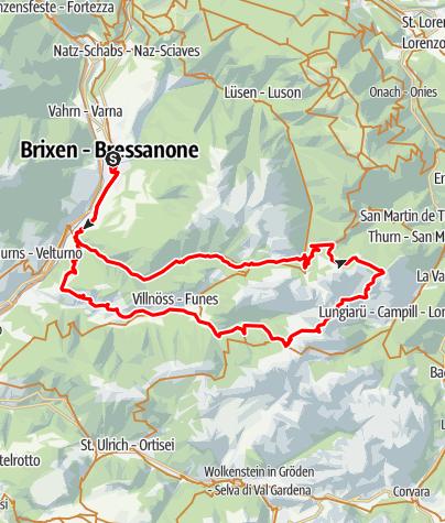 Mapa / Einmal um den Peitlerkofel