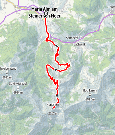 Karte / E-Bike Tour Hundstein / Variante Aberg