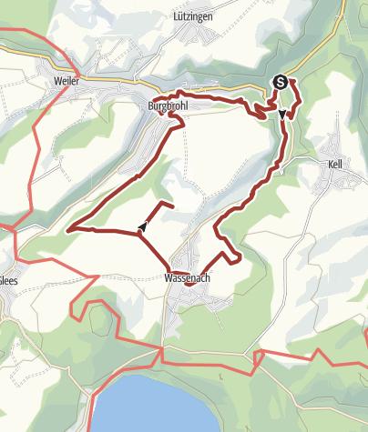 Karte / Geopfad Trasshöhlenweg (Unteres Brohltal) (Route U)