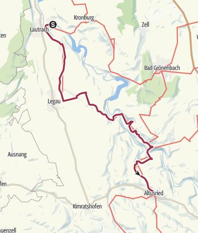 Karte / Wandertrilogie Etappe 08 Illerbeuren-Altusried - Wiesengänger Route