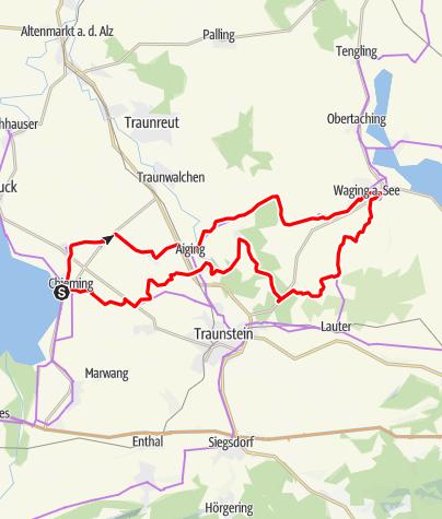 Karte / Chiemsee-Waginger See-Radweg