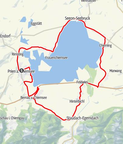 Karte / Chiemseeringlinie