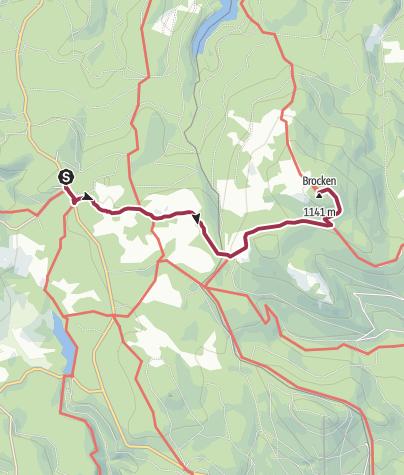 Karte / Wege zum Brocken - Goetheweg