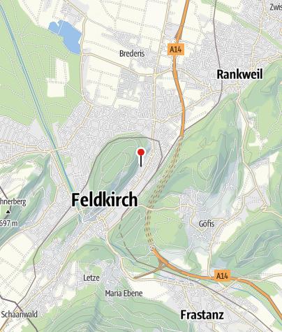 Karte / Feldkirch - Levis, Pfarrvikariatskirche Maria Königin des Friedens