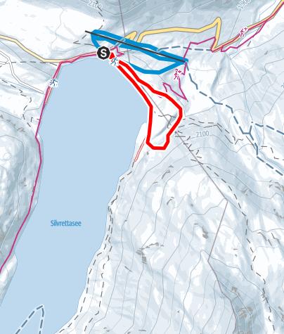 Karte / Nr. 2: Dammloipe Silvretta-Bielerhöhe (klassisch&skating)
