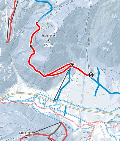 Karte / Skitour zur Brandalm