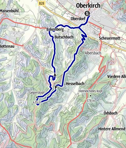 Karte / Über Bellenstein zum Geigerskopf