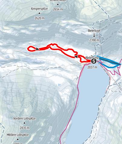 "Map / Nr. 2: Große ""Höhenloipe 2"" Silvretta-Bielerhöhe Runde (klassisch & skating)"